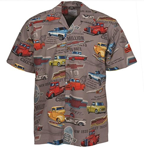 David Carey Chevy Classic Pickup Trucks Camp Hawaiian Shirt (3X) (Shirt Camp Rayon)