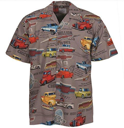David Carey Chevy Classic Pickup Trucks Camp Hawaiian Shirt by (L)