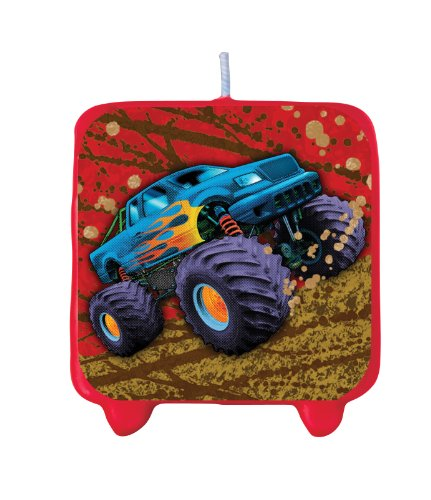 Creative Converting Mudslinger Printed Cake Decoration Candle (Mudslinger Party Supplies compare prices)