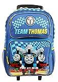 "TEAM THOMAS 16"" Blue School Rolling Backpack"