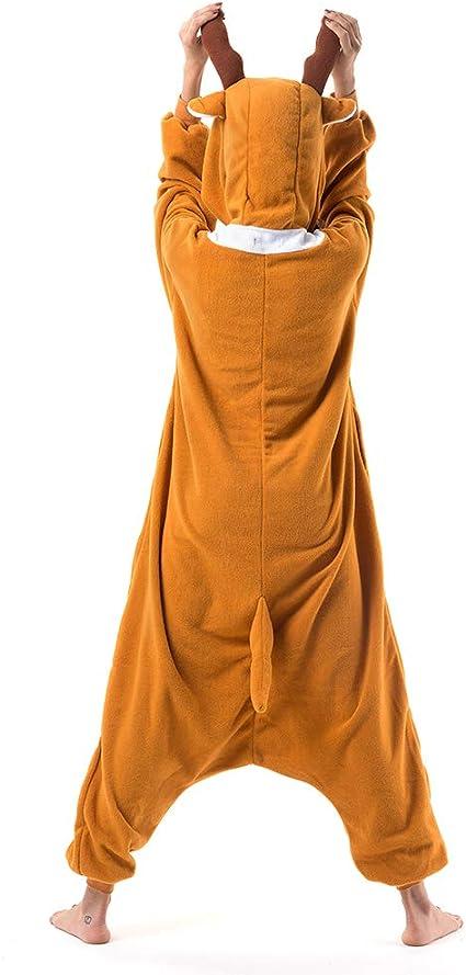 Beauty Shine Pijama de Felpa Unisex para Disfraz de Reno de Navidad