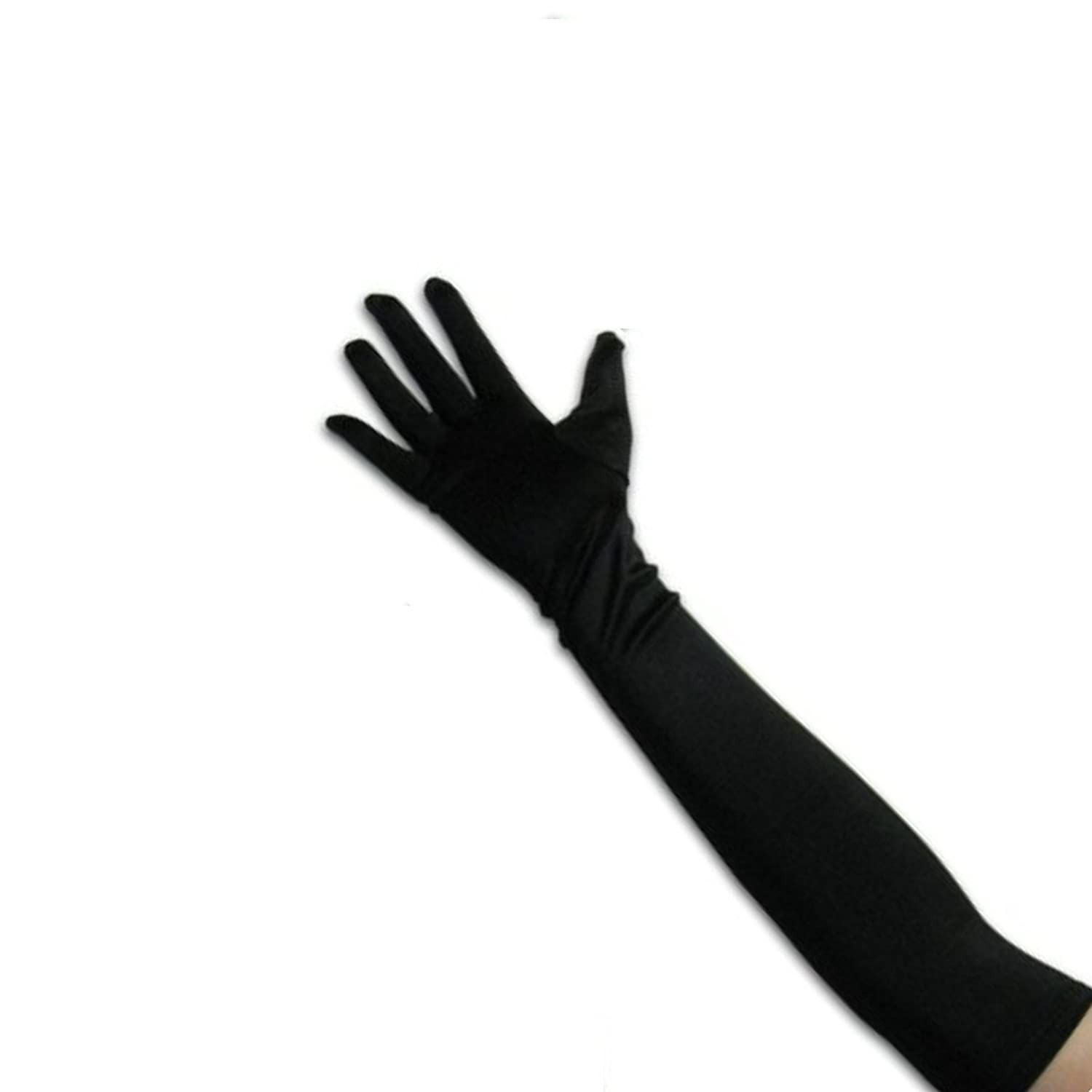 Victorian Gloves | Victorian Accessories Tapp Collections™ Classic Adult Size Long Opera/Elbow/Wrist Length Satin Gloves $10.99 AT vintagedancer.com