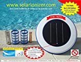 Solar swimming pool Ionizer with LED (Lights up if unit works) - 2 Baskets & 1 copper-silver anode -Copper test kit Included - NO SALES TAX