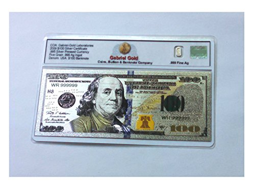 Silver Banknote Gold Certificate 2009 - Silver Certificate