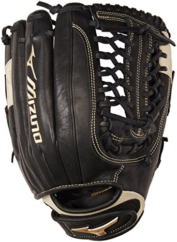 - Mizuno GGE70FP Global Elite Left Handed Throw Fastpitch Fielders Mitt, Black, 13.00 Inch