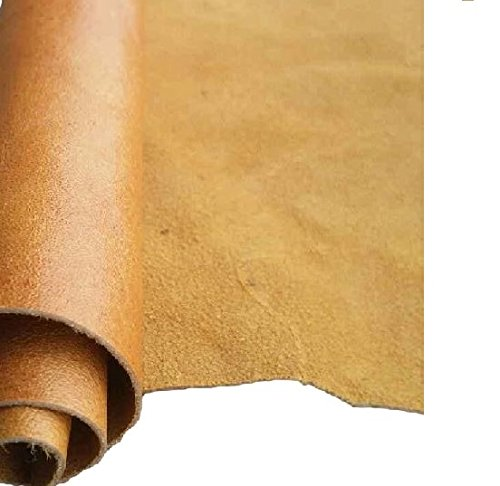 Leather Skin Piece - REED LEATHER HIDES - COW SKINS VARIOUS COLORS & SIZES (8 inches X 11 Inches, CAMEL)