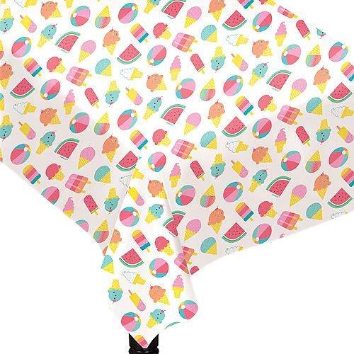 HollyDel Just Chillin' Flannel-Backed Vinyl Tablecloth Summer ()