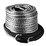 VEVOR Synthetic Winch Rope 95ft X 3/8 Inch Synthetic Winch Line Cable 20500LBS Synthetic Rope with Protective Sleeve for SUV ATV UTV Jeep Truck Boat Ramsey (95ft)