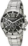 Stuhrling Original Women's 591.02 Vogue Coronia Swiss Quartz Day Date GMT Unidirectional Crystal Bezel Stainless Steel Link Bracelet Watch