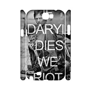 wugdiy New Fashion Hard Back Cover 3D Case for Samsung Galaxy Note 2 N7100 with New Printed Walking Dead