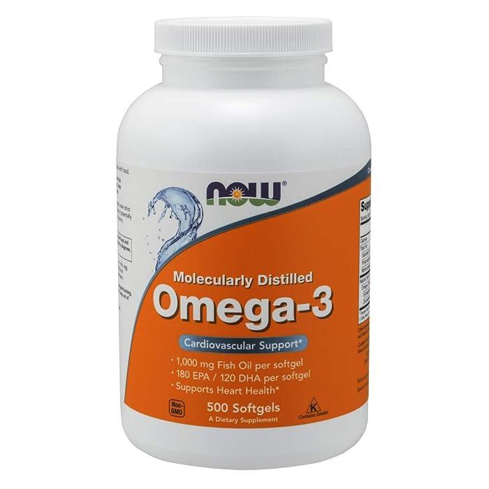 Now Supplements, Omega-3, Molecularly Distilled, 500 Softgels