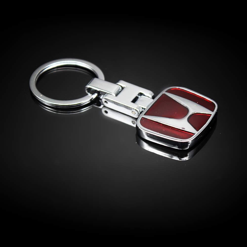 VILLSION 3D Llavero para Coche Logo Doble Lado Metal Llavero Ven con Caja de Regalo