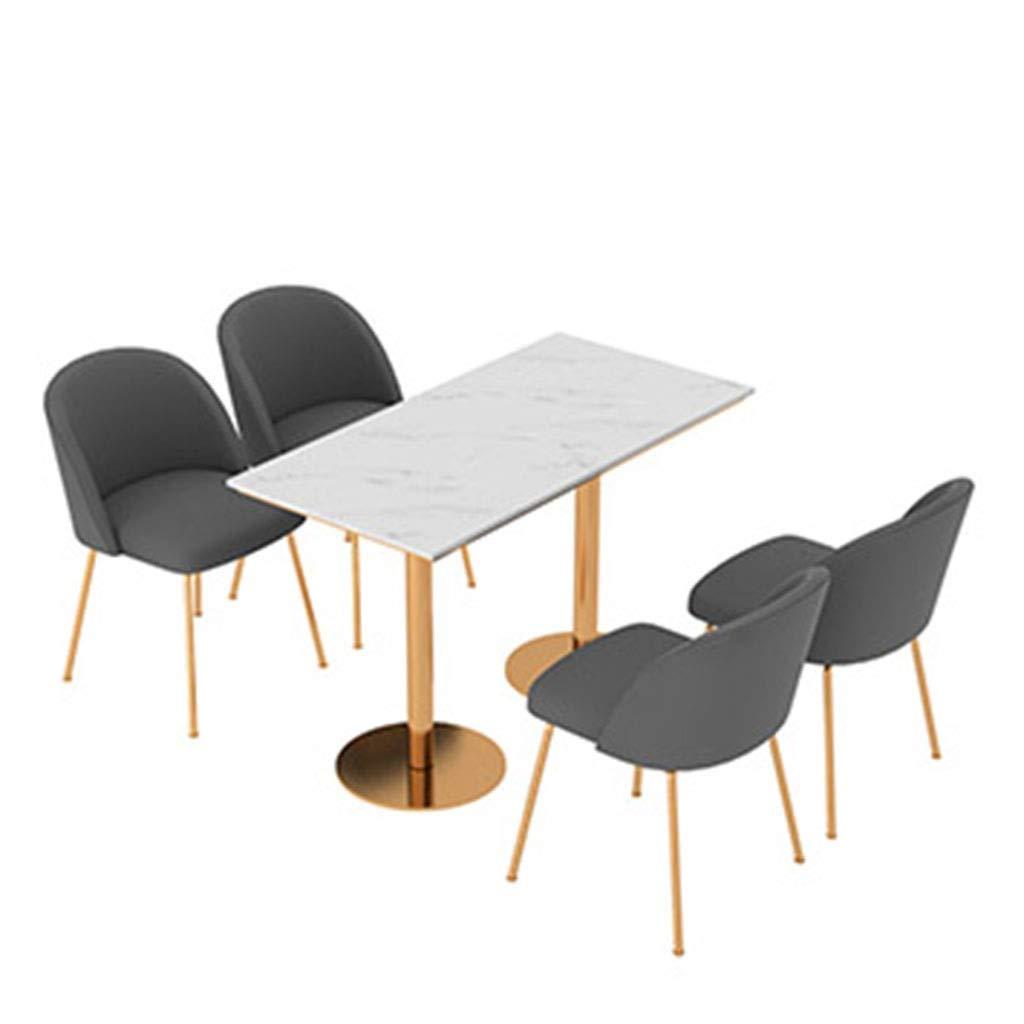 HEJINXL set, grå sammet matstolar mjukt säte vardagsrum stolar med robust smidesjärn köksstolar för matsal vardagsrum mottagning kontorsstolar (färg: A) b