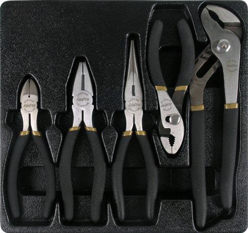 AMPRO T28390 Professional Pliers Set, 5-Piece