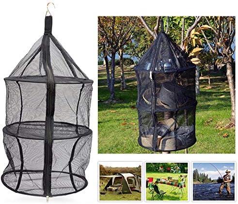 Hihey Hängenetz 3 Schichten Faltbare Trocknen Nylon Netz Aufhänger Tasche Multifunktionale Geschirr Trockner Hängen Käfig Organizer