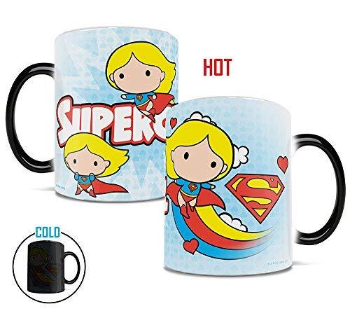 Morphing Mugs DC Comics Justice League (Chibi Supergirl) Heat Reveal Ceramic Coffee Mug - 11 Ounces]()