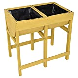 New Wood Free Standing Planting Raised Wooden V Planter Elevated Vegetable Flower Bed