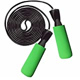 CaseHQ Jump Ropes Ball Bearing Heavy duty High Performance Professional Ball Bearing weighted Speed 105 inch Cable,Jumping Rope with Adjustable Comfortable Handles,Fit Men, Women and Children - green