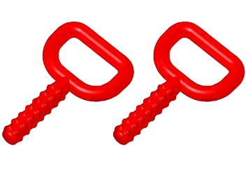 2 Pack Green//Red Chewy Tubes Super Chew Knobby