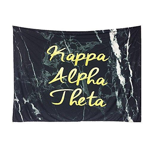 Kappa Alpha Theta Sorority Dark Marble Dorm Apartment Wall Tapestry 60 Inches x 80 Inches Kappa Alpha Theta Merchandise