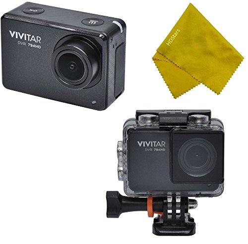 Vivitar WiFi 12.1MP Action Camera DVR-794HD Waterproof Underwater Housing - Black