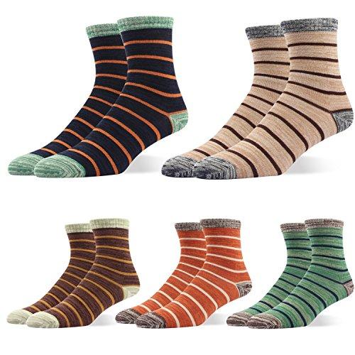 RioRiva Men's Dress Socks Mid Calf Crew Tube Socks for Business Grey Black Navy,BSK04 - Pack of 5,US Men Size 6-10/EU (Lord Of The Rings Shoes)