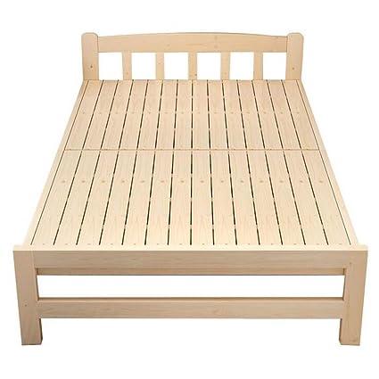 F Bed Cama Plegable Hecha de Madera Maciza, con colchón, 10 ...