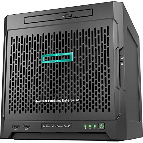 HP ProLiant MicroServer Gen10 Ultra Quad-core 8GB DDR4 SDRAM Serial ATA/600 Controller Micro Tower Server Model P03698-S01 ()
