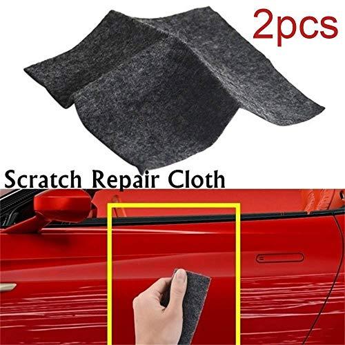 KOBWA Car Scratch Remover Cloth, 2 Pack Multipurpose Car Paint Scratch Repair Cloth, Nano-Tech Car Paint Scratch Repair for Repairing Polish and Light Paint Scratches Remover Scuffs on Surface