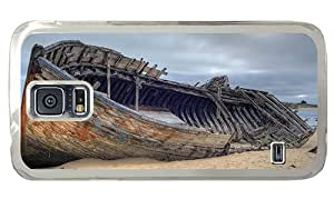 Hipster protective Samsung Galaxy S5 Case Abandoned shipwreck PC Transparent for Samsung S5