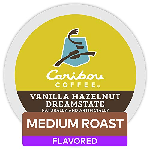 Caribou Coffee Vanilla Hazelnut Dreamstate Single Serve K-Cup Pod Flavored Coffee, 60 Count