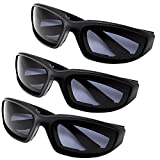All Weather Protective Motorcycle Riding Goggle Glasses 3 Pack Set (Day Ride Pack)