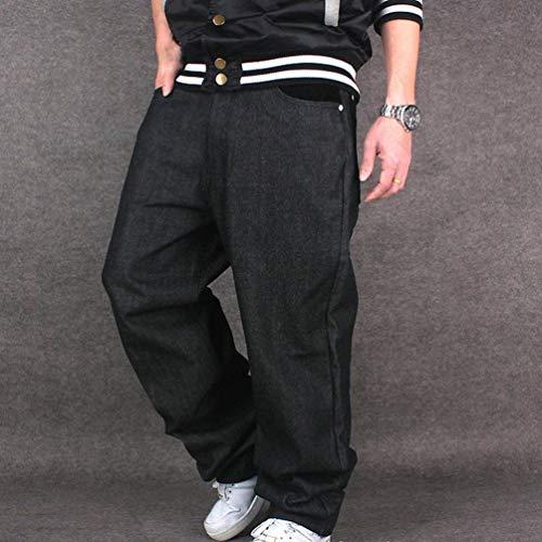 Colore Ragazzi Hip Dance Downtown Nero Da hop Uomo Ballo Solido Di Sera Yasminey Jeans Street Giovane Pantaloni Fq0wwU
