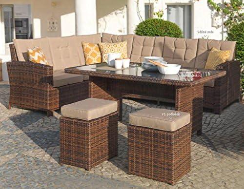 Amazonde Mojawo Luxus Ecklounge 5 Teilig Gartenmöbel Rattan Set