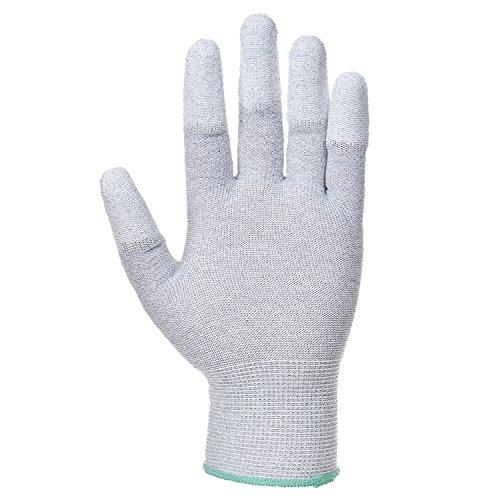 Portwest A198Antistatische Pu-Handschuh der Finger, A198GRRXXS grau