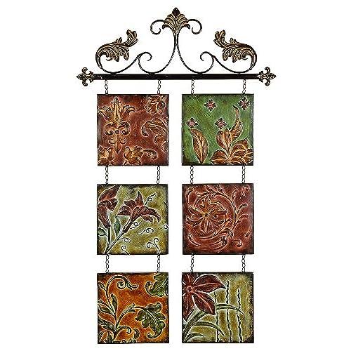 High Quality Metal Wall Decor Botanical Scroll Metal (99204)
