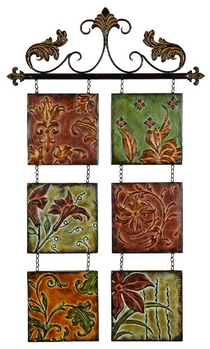 - Deco 79 Decor Botanical Scroll Metal Wall Décor, 40