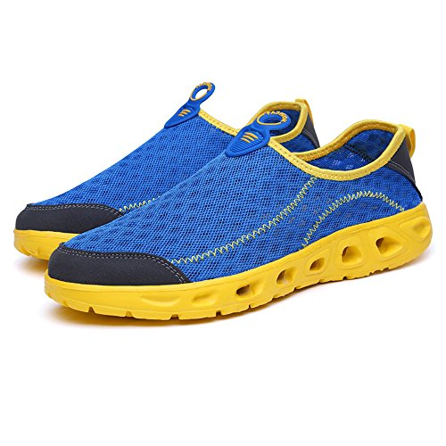 Men's Water Clog Shoes Breathable Quick-Drying Sandals Blue yxPTlGKIF