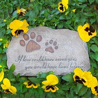 jinhuoba Dog Memorial Stone, Indoor Outdoor Dog or Cat for Garden Backyard Marker Grave Tombstone. Hand-Printed Personalized Loss of Pet Gifts : Garden & Outdoor