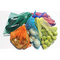 Bolsas para frutas y verduras (juego de 6 bolsas), ecológicas, reusables, eco-friendly washable and reusable bags for groceries, 31.5x26.5 cm Por: Imagina y Ordena