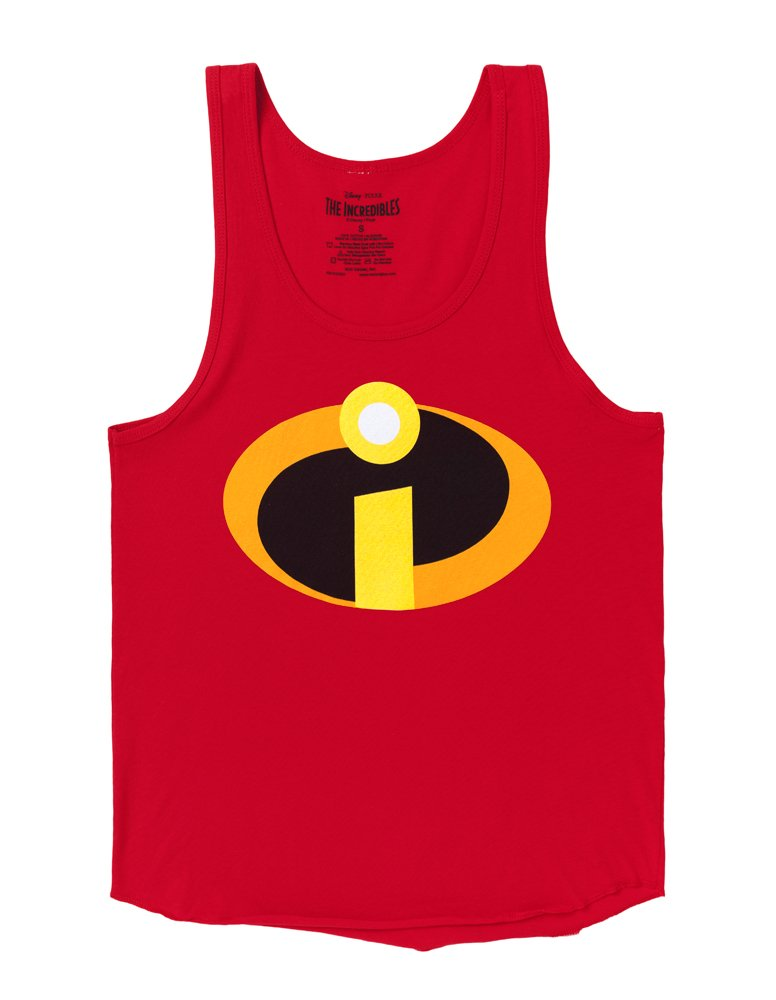 The Incredibles Logo Costume Adult Tank Top - Red (Large)