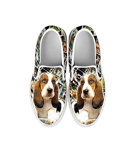 Shoes Lovely Slip Ons Slip Pet Women's Choose Hound Breed Ons Print Amazing Your Dog Basset A8pEETq