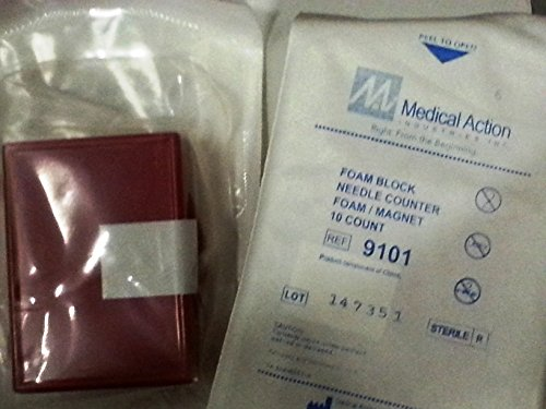 (Medical Action Industries - Foam Block Needle Counter, 10 Capacity, Sterile)