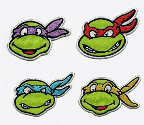 Teenage Mutant Ninja Turtles 4-Pack (Faces-Leonardo, Raphael, Michelangelo, and Donatello) (with Gift (Ninja Turtles Face)