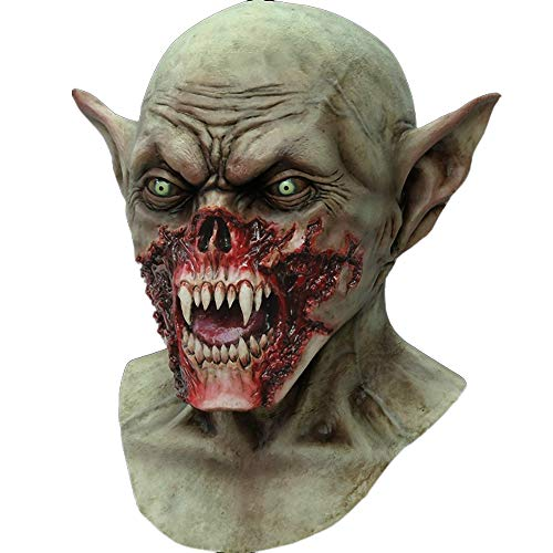 Vampire Head Latex Mask Zombie Demon Horror Mask Halloween Costume Party Dress]()