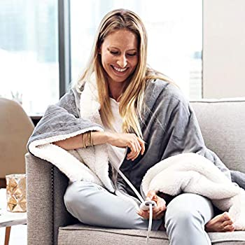 Pure Enrichment PureRelief Plush Heated Throw - Fast-Heating 50