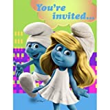Smurfs Birthday Party Invitations