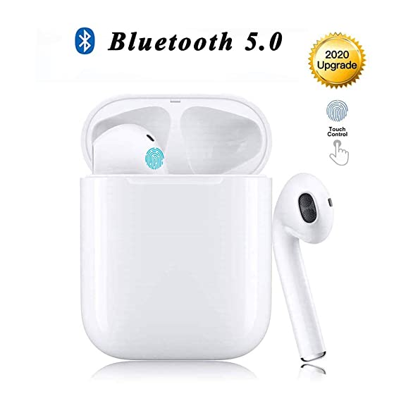 Auriculares Bluetooth, Auriculares Inalámbricos Bluetooth 5.0 Estéreo Hi-Fi Sonido IPX5 Resistentes al Agua, in-Ear Auriculares con HD Mic,para iPhone Apple Airpods/Samsung/Android