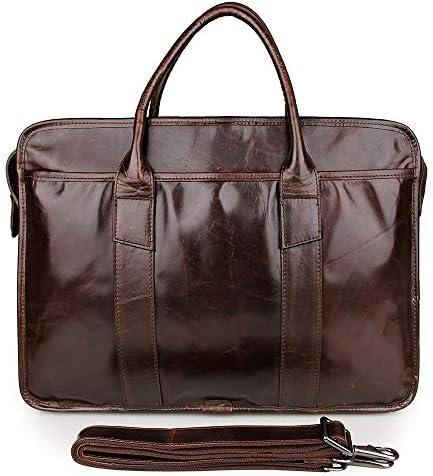 ブリーフケース メンズクラシックレザーブリーフケースレトロビジネスバッグラップトップバッグに最適のビジネスピープル メンズブリーフケース (Color : Black, Size : 39.5x9x30.5cm)