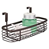 mDesign Over the Cabinet Vanity Storage Organizer Tray for Shampoo, Lotion, Health and Beauty Supplies/Products- Bronze
